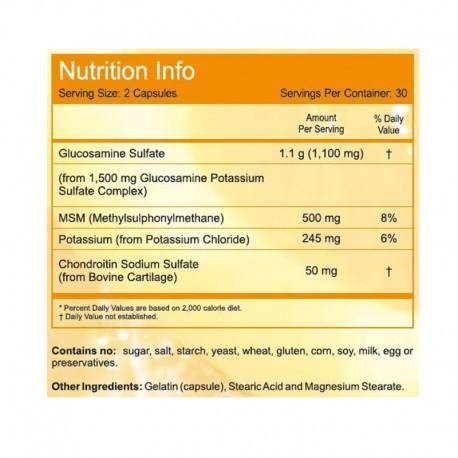 Γλυκοζαμίνη & Χονδροϊτίνη με MSM 90caps, Now