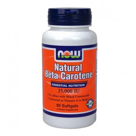 Φυσική Βήτα Καροτίνη 90S.Gels (Beta Carotene Natural), Now