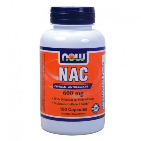 NAC 600mg N-Acetyl Cysteine 100caps, Now
