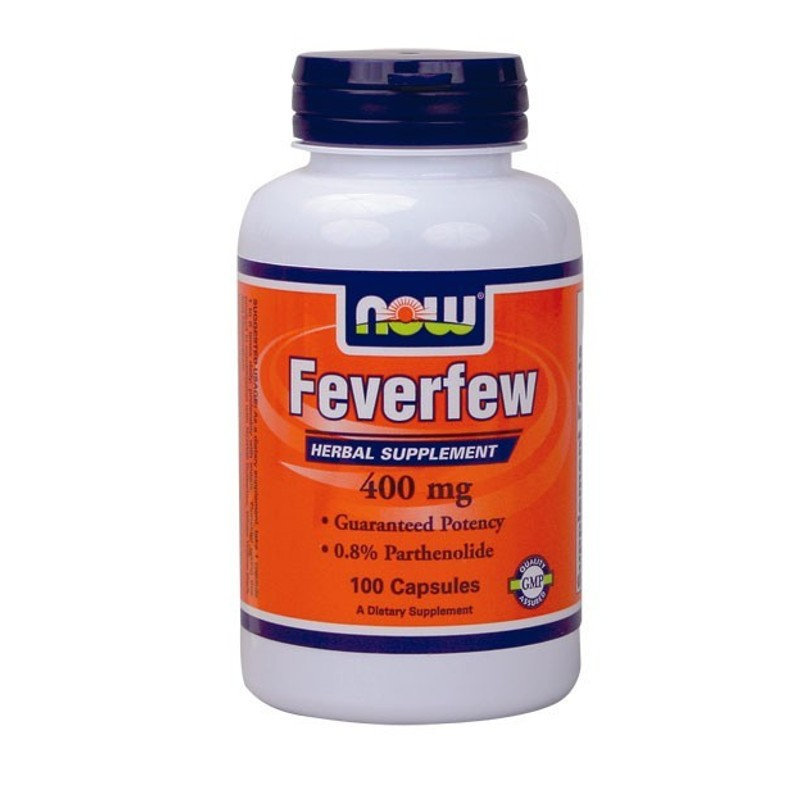 Feverfew 400mg 100Caps (0,8% Parthenolide), Now
