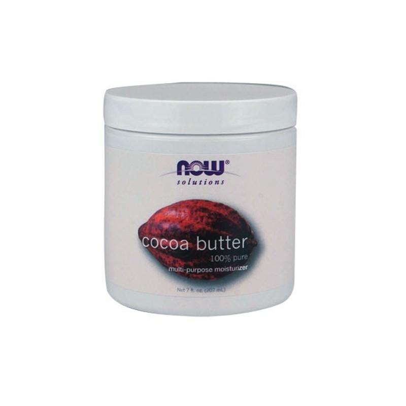 Αγνό Βούτυρο Κακάο 200ml Cocoa Butter (100% Pure), Now