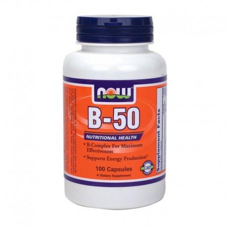 Βιταμίνη Β-50 100 κάψουλες, Now