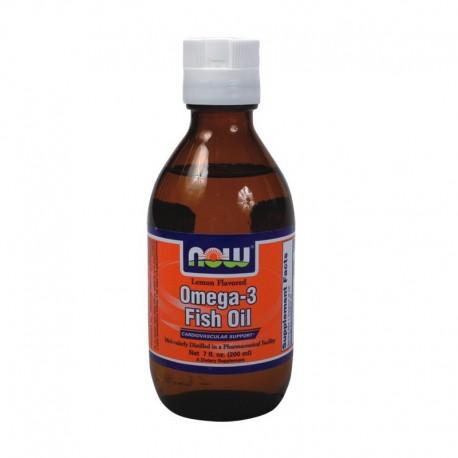 Yγρό Ωμέγα-3 Μοριακής Απόσταξης 200ml Lemon, Now