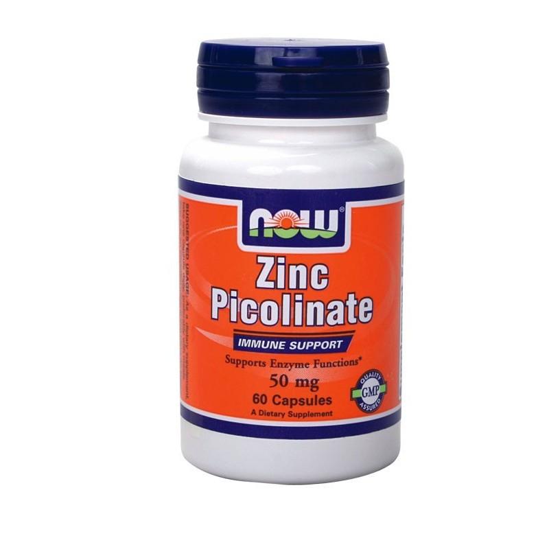 Πικολινικό Ψευδαργύρου 50 mg 60caps, Now