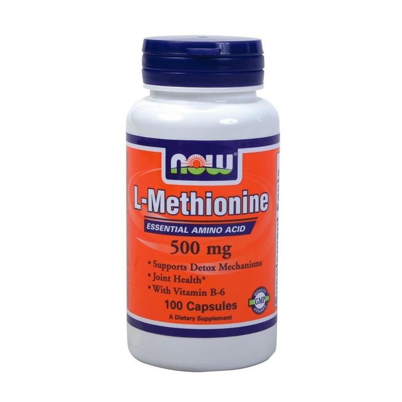 L-Mεθειονίνη 500mg (+10 mg B-6) 100caps, Now