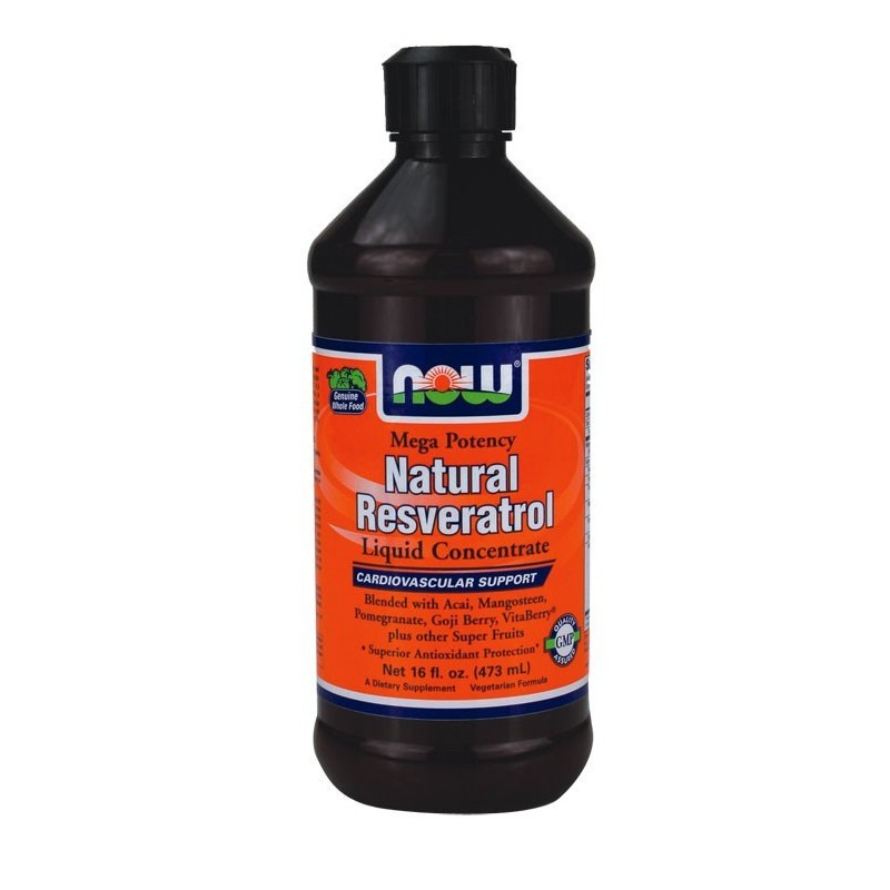 Resveratrol Liquid Con 16 Oz (473.1 ml), Now