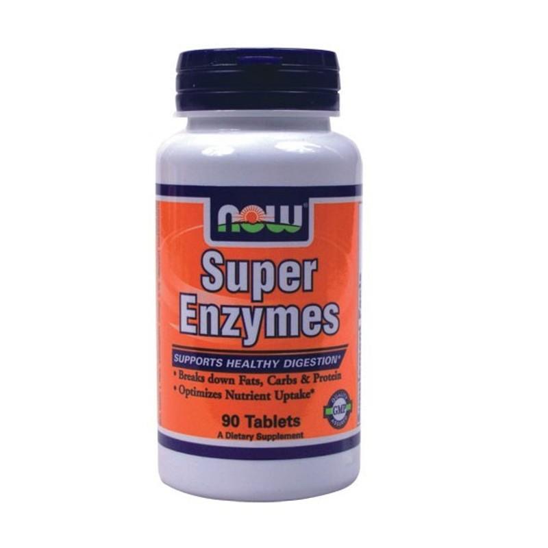 Συνδυασμός Ενζύμων Super Enzymes 90 Tabs, Now