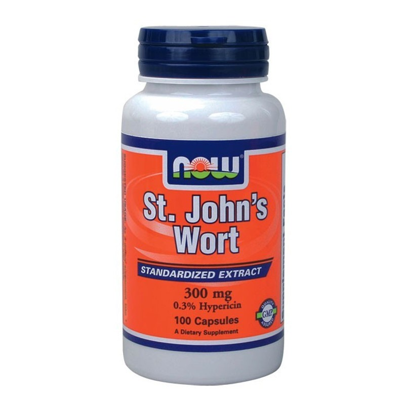 St. John's Wort 300mg 100 Caps, Now