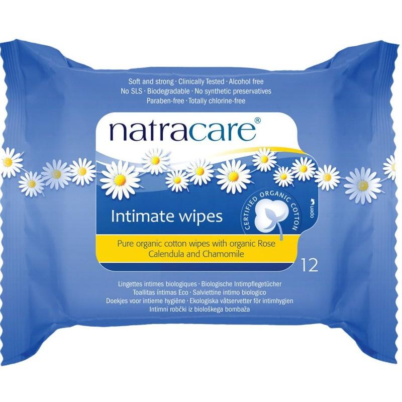 Υγρά Μαντηλάκια Καθαρισμού Ευαίσθητης Περιοχής 12 τεμάχια, Natracare
