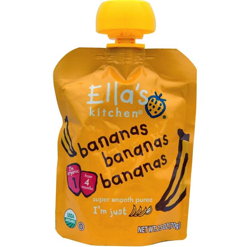 Βιολογικός Πολτός Μπανάνας Bio 70γρ., Ella's Kitchen