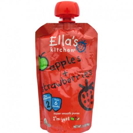Βιολογικός Πολτός από Φράουλες & Μήλα 120γρ