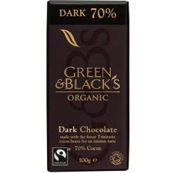 Βιολογική Σκούρη Σοκολάτα με 70% Κακάο bio 90γρ., Green & Blacks