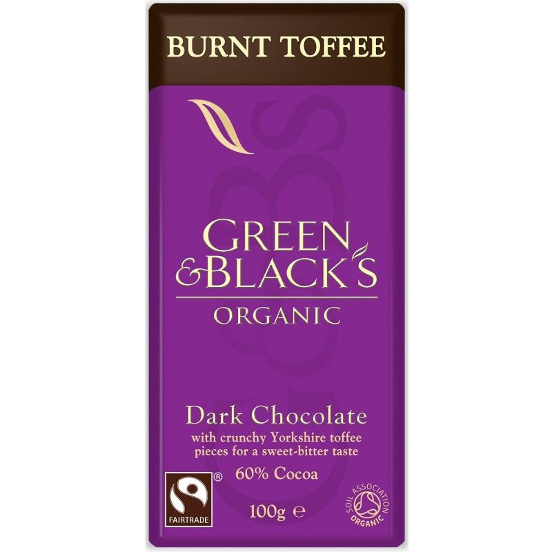 Βιολογική Μαύρη Σοκολάτα με Καραμέλλα Βουτύρου Bio 100γρ., Green & Blacks