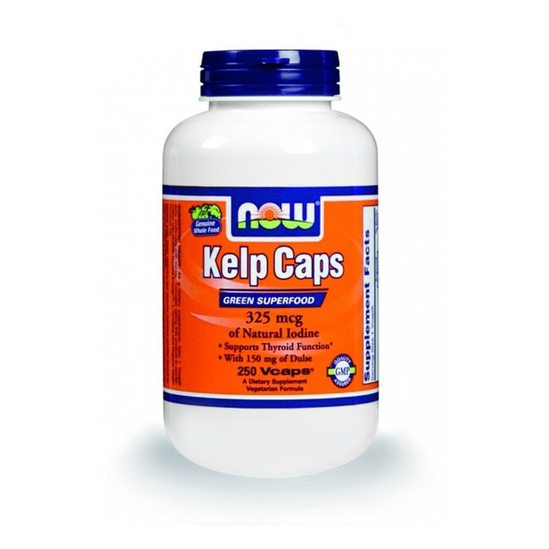 Kelp 325 mcg Ιώδιο/Dulse - 250 Vcaps, Now