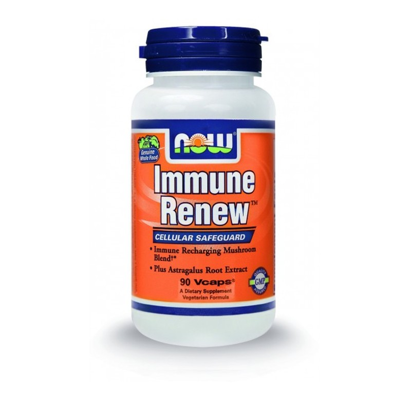 Immune Renew (8 Organic Mushrooms & Standardized Astragalus) - 90 Vcaps, Now