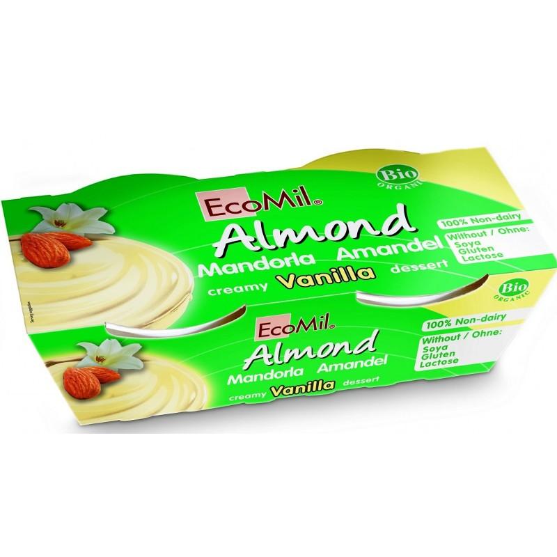 Βιολογικό Επιδόρπιο Βανίλια - Αμύγδαλο Bio 2x125γρ., Ecomil