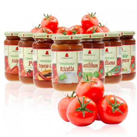 Βιολογική σάλτσα ντομάτας βασιλικού 350γρ Ζwergenwiese