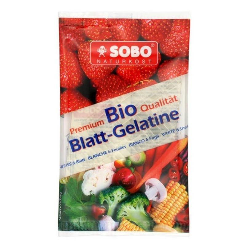 Βιολογική Ζελατίνη Περιέχει 6 φύλλα, Sobo