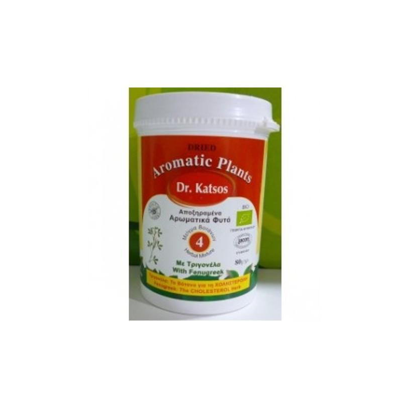 Βιολογικό Μείγμα Βοτάνων Νο4 για Χοληστερόλη 80γρ., Ελληνικό, Dr. Katsos