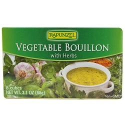 Βιολογικοί Κύβοι Λαχανικών με Βότανα Bio 8x1/2lt, Rapunzel