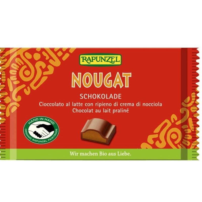 Βιολογική Σοκολάτα Nougat Bio 100γρ., Rapunzel