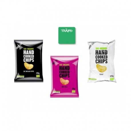 Βιολογικά Τσιπς Xειροποίητα με Αλάτι & Πιπέρι Bio 125γρ. Trafo, Fz Organic Food