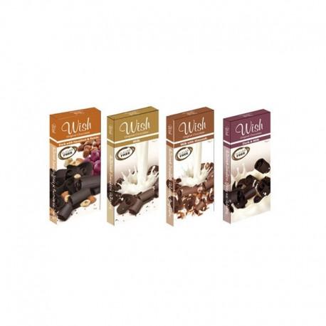 Σοκολάτα Γάλακτος Aμυγδάλου Χωρίς Ζάχαρη 75γρ. Wish
