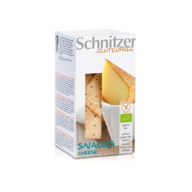 Βιολογικό Σνακ Καλαμποκιού με Τυρί Χωρίς Γλουτένη 100γρ., Schnitzer