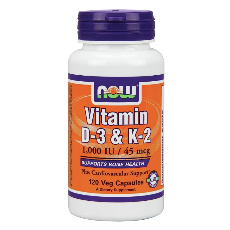 Βιταμίνη D3 & K2 120S Gels, Now