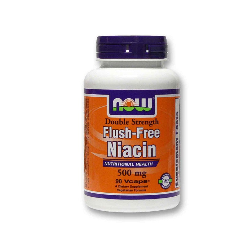 Niacin Flush-Free 500mg 90 Vcaps, Now
