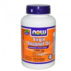 Βιολογικό Virgin Coconut Oil 1000mg - 120 Softgels, Now