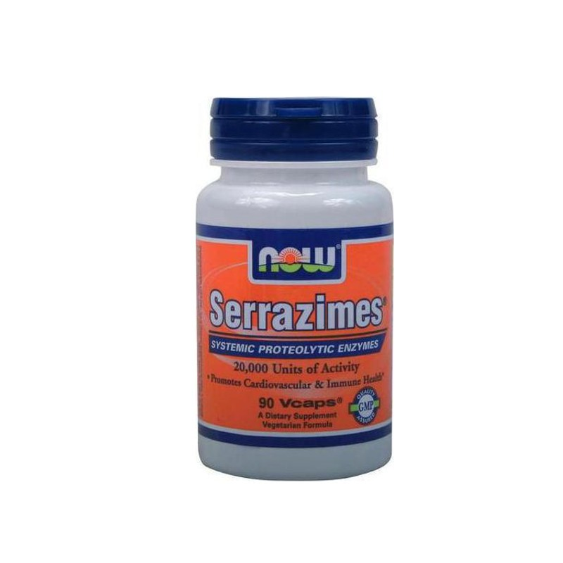 Serrazimes 33mg, 90 Vegetable Capsules, Now Foods