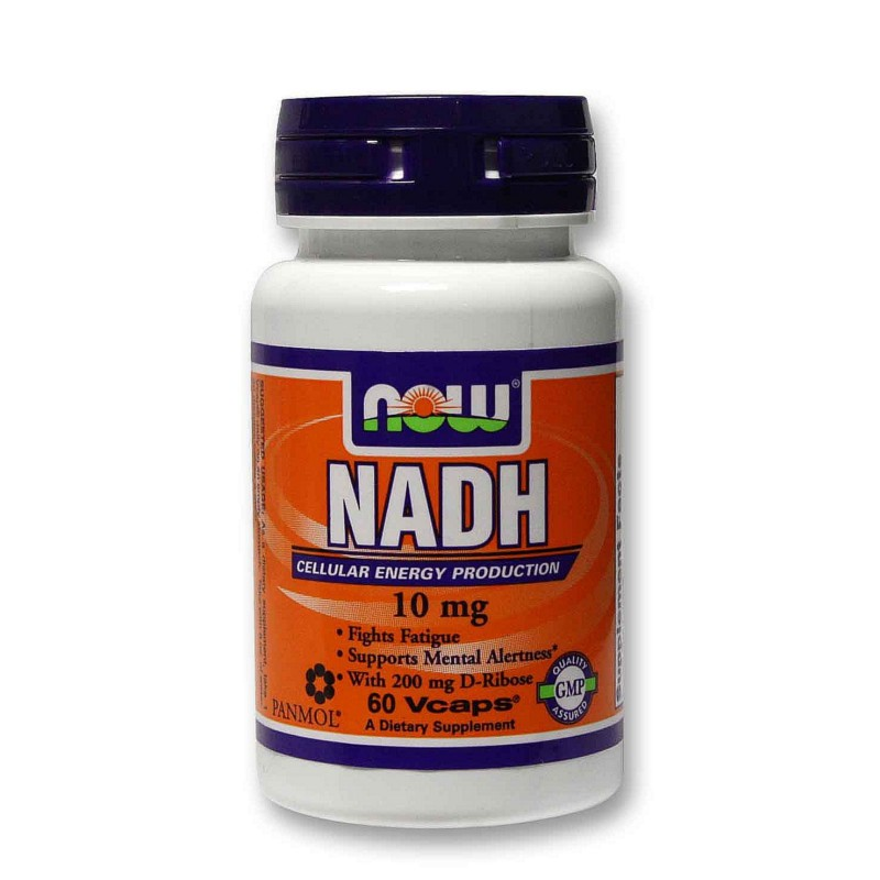 Nadh 10 mg - 60 Vcaps, Now Foods