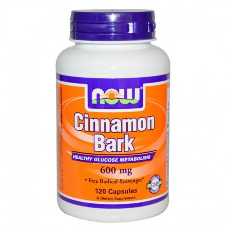 Cinnamon Bark 600 mg - 120 caps Now Foods