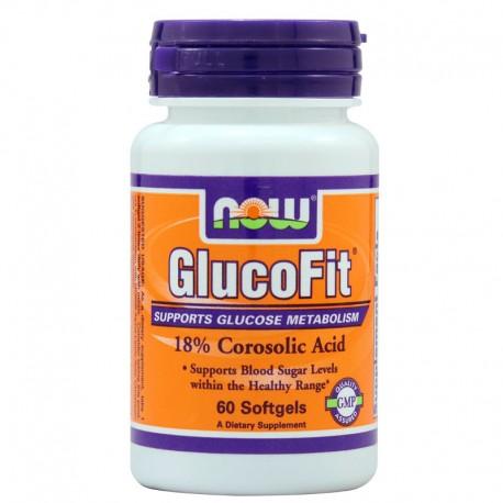 Glucofit® - 18% Corosolic Acid 60 Softgels Now Foods