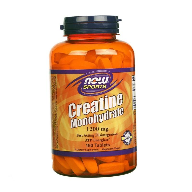 Creatine MonohydrateΜονοϋδρική Κρεατίνη 1200mg - 150 Tabs, Now Foods
