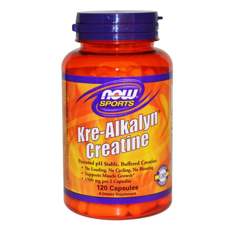 Kre-Alkalyn Creatine 120 Caps, Now Foods