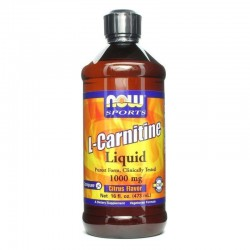 L-Carnitine Καρνιτίνη Υγρή 1000mg 16oz., Now Foods