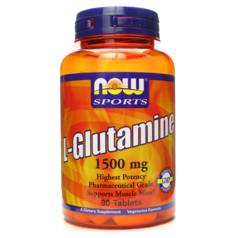 L- Glutamine 1500mg 90tabs., Now Foods