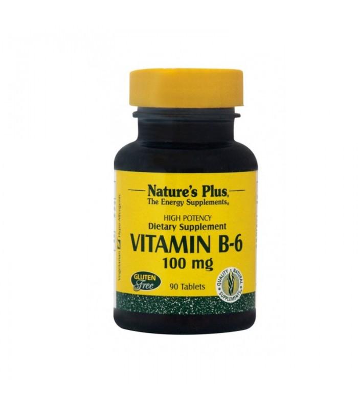 Βιταμίνη B-6 Πυριδοξίνη 90 ταμπλέτες 100mg, Nature's Plus
