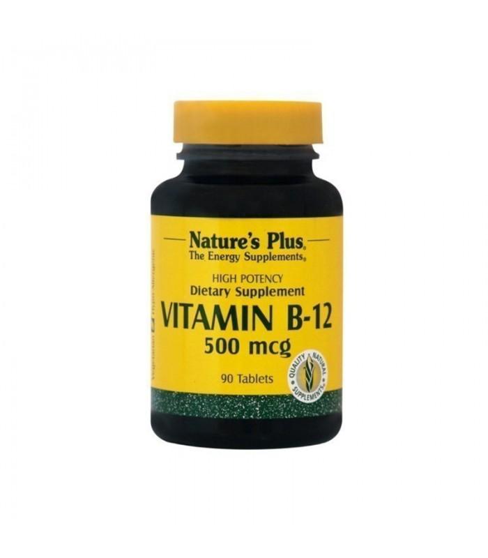 Βιταμίνη B-12 Κοβαλαμίνη 90 ταμπλέτες 500mcg., Nature's Plus