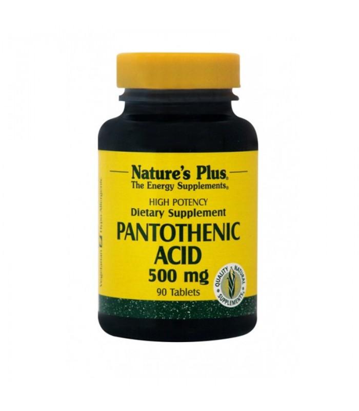 Παντοθενικό οξύ B-5 90 ταμπλέτες 500mg, Nature's Plus