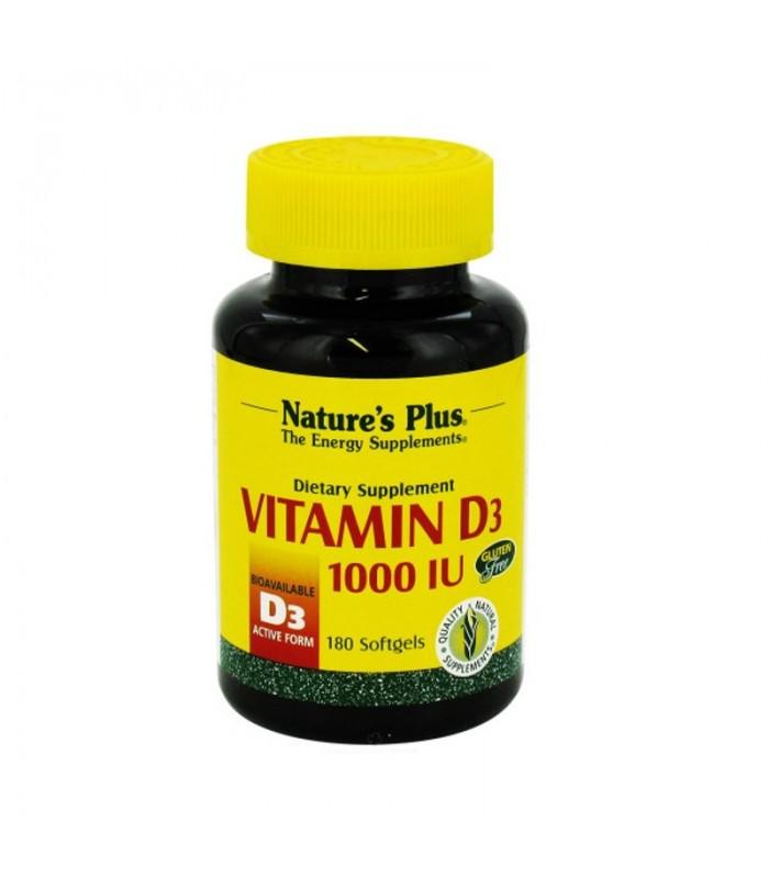 Βιταμίνη D3 1000 IU 180 κάψουλες, Nature's Plus