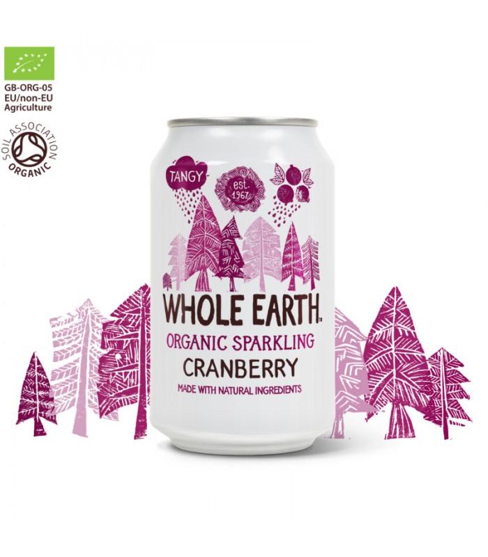 Βιολογικό Αναψυκτικό Κράνμπερυ 330ml Χωρίς Ζάχαρη, Whole Earth
