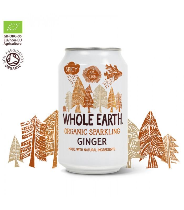 Βιολογικό Αναψυκτικό Τζίντζερ 330ml Bio Χωρίς Ζάχαρη, Whole Earth