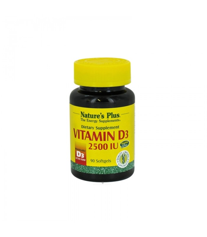 Βιταμίνη D3 2500 IU 90 κάψουλες, Nature's Plus
