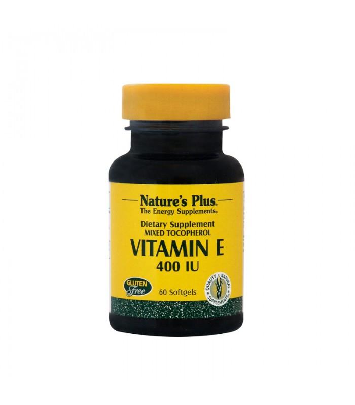 Βιταμίνη Ε 400 IU 60 ταμπλέτες, Nature's Plus