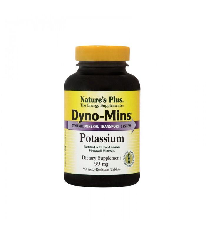 Dyno Mins Potassium Κάλιο 99mg Dyno-Mins 90 ταμπλέτες, Nature's Plus