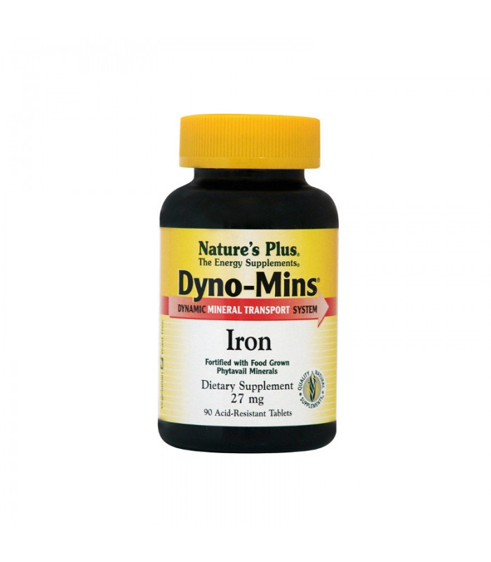Dyno-Mins Iron Σίδηρο 90 ταμπλέτες 27mg, Nature's Plus