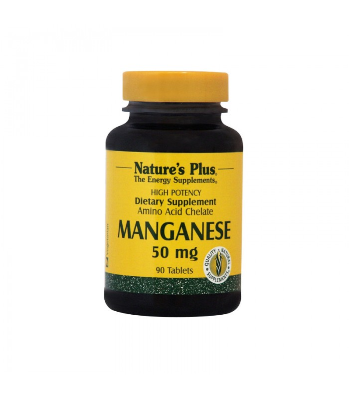 Manganese Μαγγάνιο 90 ταμπλέτες 50mg, Nature's Plus